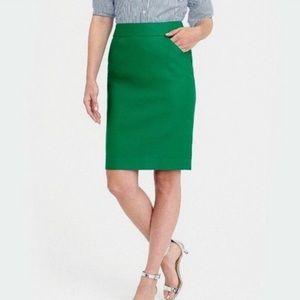 "J.Crew Green ""The Pencil Skirt"" 6"